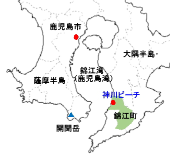 神川ビーチ影絵 - 鹿児島県錦江町 / 旅行記